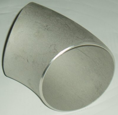 "0.50"" S10S 45° Long Radius Elbow Seamless 316L"